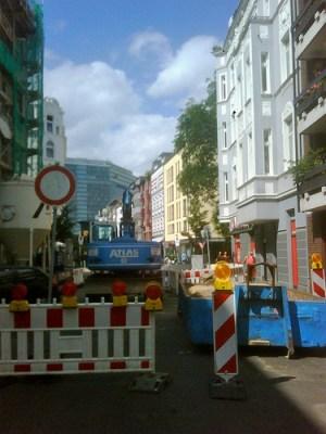 Bau der U-Bahn Haltestelle Lorettostraße ;-)