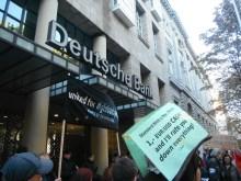occupy düsseldorf - kundegebung vor der deutschen bank