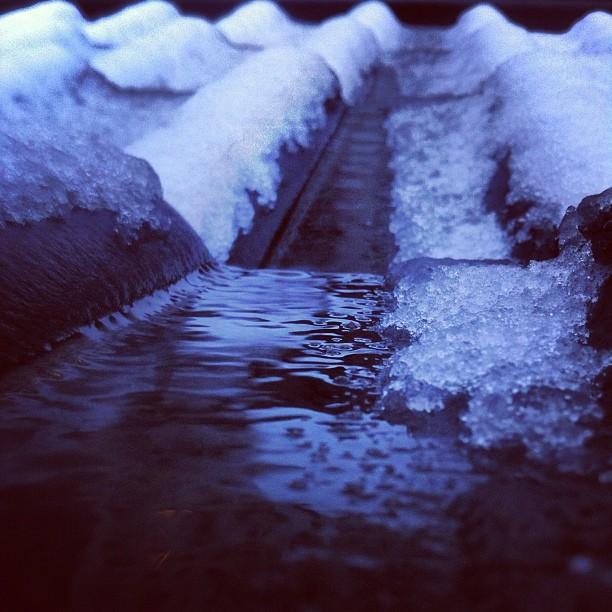 Eiskalte Sache. Winter in der Stadt.