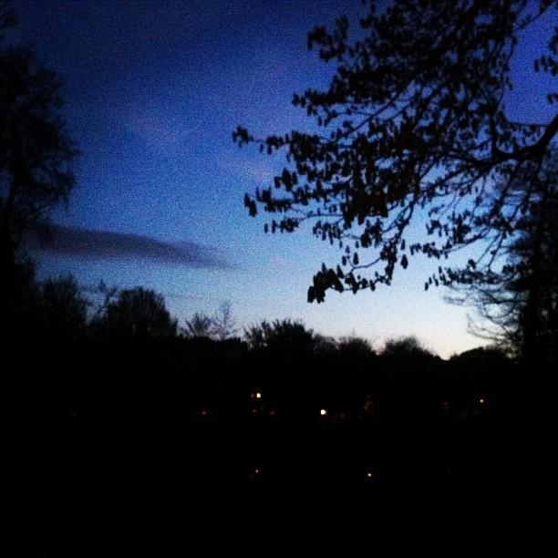 Von Schwarz zu Blau. Sonnenaufgang in #Amsterdam. #koniginnedag