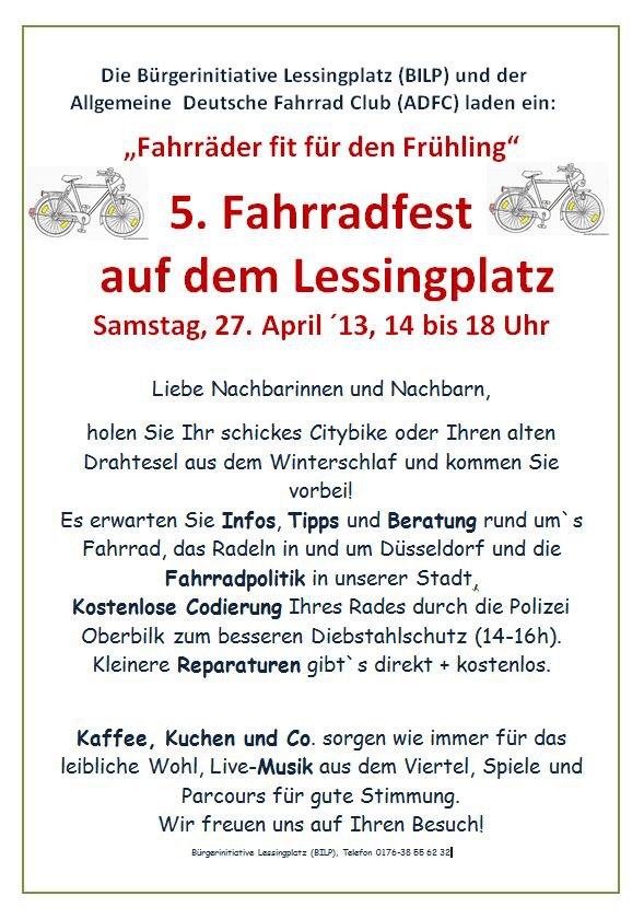 5. Fahrradfest auf dem Lessingplatz
