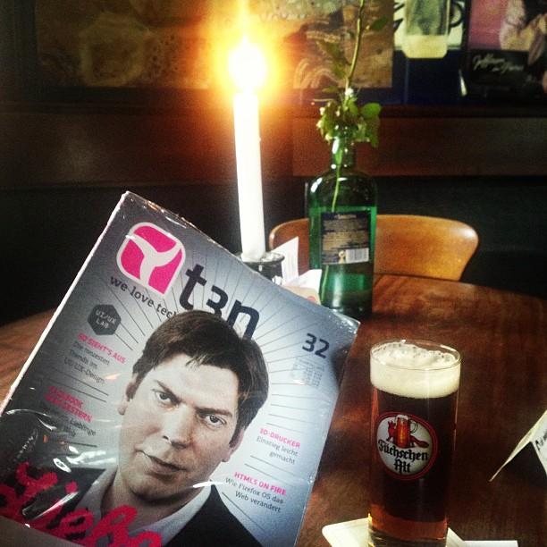 Kleine Lesepause mit druckfrischer #t3n am Freitag ;-)