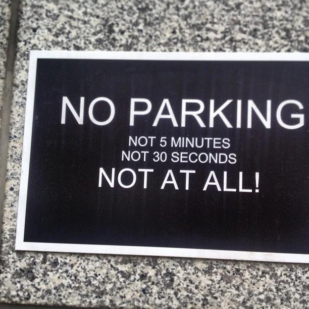 Klare Ansage : hier nicht mehr parken ;-)
