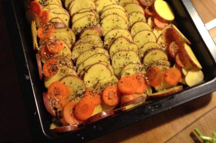 Kochen ohne Knochen – Veganes Kartoffelgratin