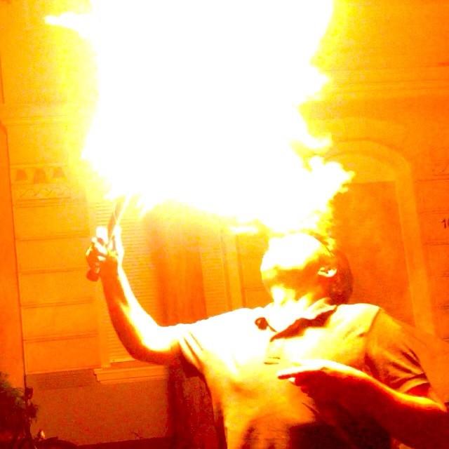 Feuer & Flamme um Mitternacht ;-)