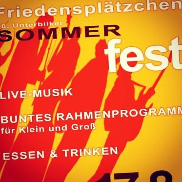 Freuen uns schon aufs Sommerfest auf'm Friedensplätzchen (17. August)