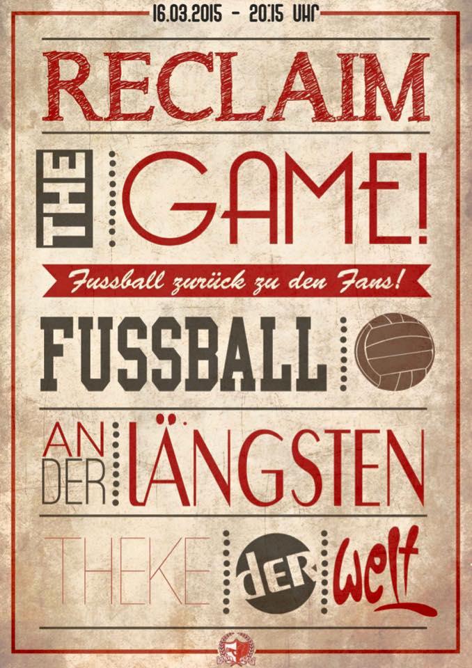 Reclaim the Game – Fussball zurück zu den Fans!