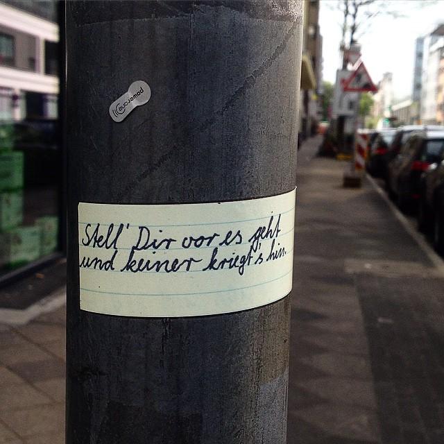 Weisheiten am Straßenrand...