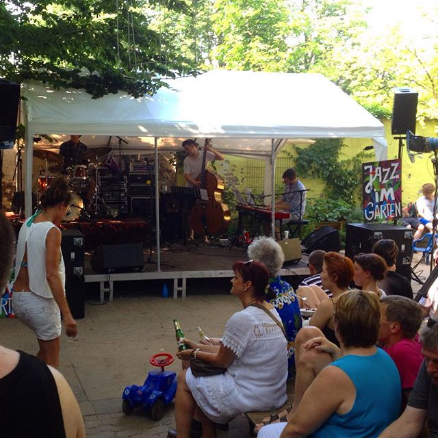 Jazz im Garten.