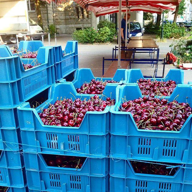 KirschManiacs kommen hier ins schwärmen :-) Beim Transit über den Bauernmarkt am Friedensplätzchen sind mir die Bohnen, das Beerenobst und vor allem die kleinen Herztomaten aufgefallen :-)