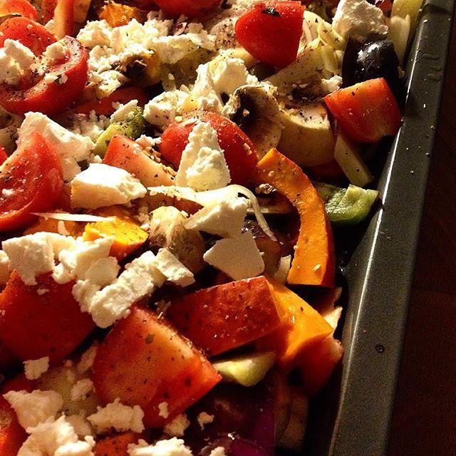 Passend zur Herbstwitterung – Backofengemüse frisch aus dem Ofen.