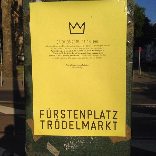 Im Juni gibt es übrigens wieder einen Trödelmarkt auf und auf dem Fürstenplatz :-)