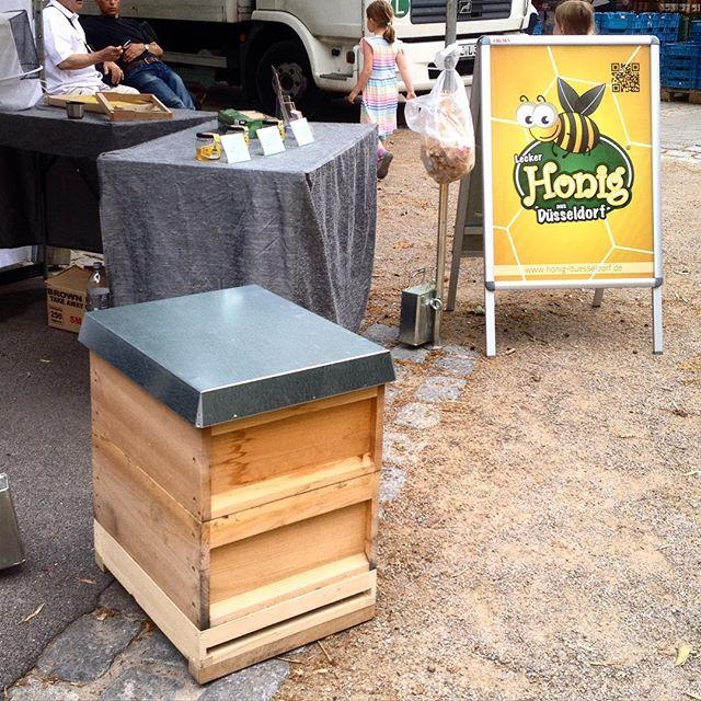 Hab mich gestern mal wieder länger mit Dieter Weinkauf von der Stadtimkerei Düsseldorf / Unterbilk über seine Bienenvölker und den Honig unterhalten... es ist Wahnsinn wieviel Arbeit darin steckt :-)
