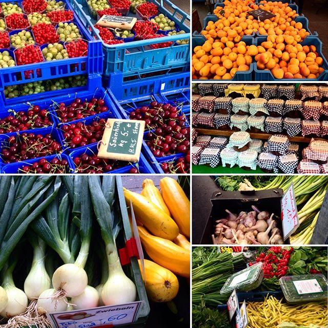 Jetzt erst mal den Wochenbedarf an Obst und Gemüse decken :-)