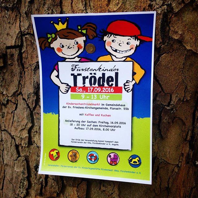 Kommenden Samstag gibt es wieder einen Kindertrödelmarkt bei dem Fürstenkindern :-)