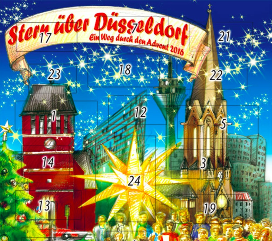 Lebendige Adventskalender in Bilk