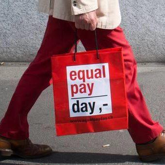 'Equal Pay Day'. Gleicher Lohn für gleiche Arbeit.