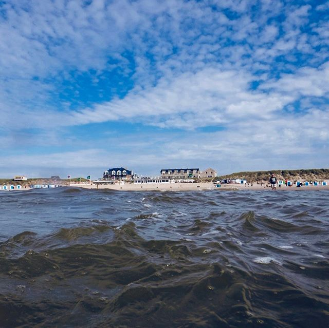 Sonnige und dazu frischer Wind – perfektes Wetter für ein Bad in der Nordsee