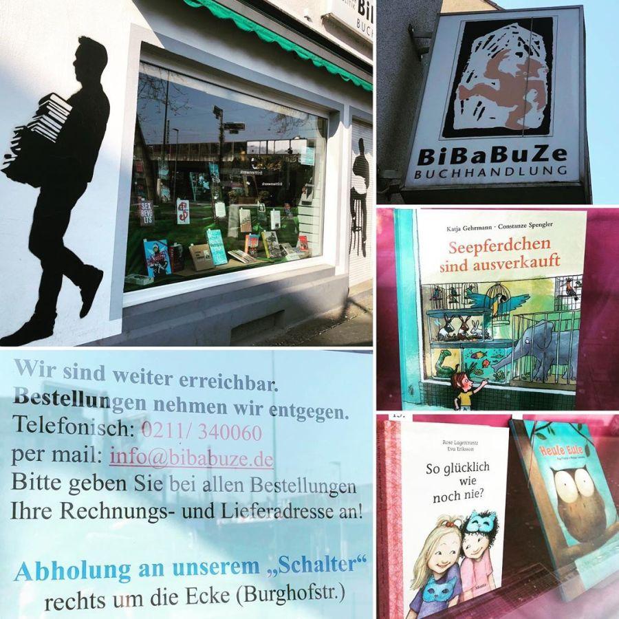 Auch Bibabuze stellt um und erschließt sich jetzt neue Vertriebswege – ihr könnt nun auch hier per Email und auch telefonisch eure Bücher bestellen. Eure Bestellung könnt ihr dann im Laden (bzw an einem extra eingerichteten 'Schalter') abholen und bequem dann per Rechnung bezahlen. Zeit für ein gutes Buch gibt es ja gerade genug