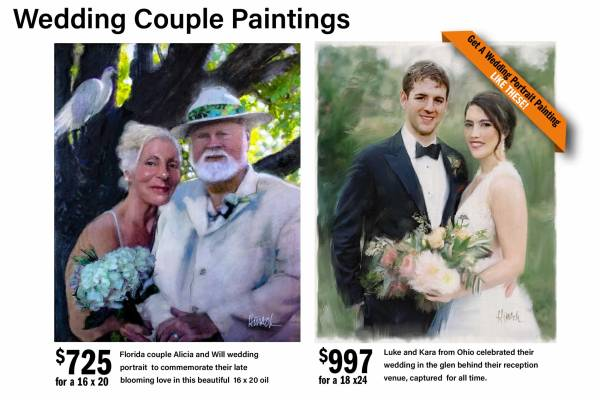Wedding Couple Portrait Painting