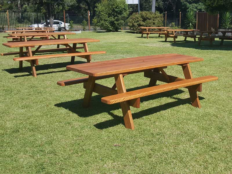 commercial picnic tables by billabong