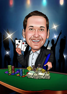 Casino  Bill and Ben The Cartoon Men  Caricatures from