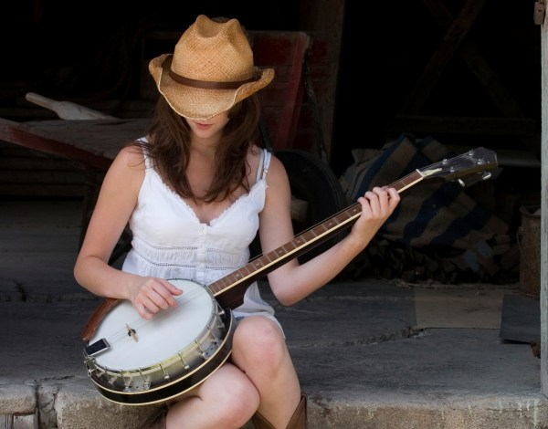 Girl and Banjo