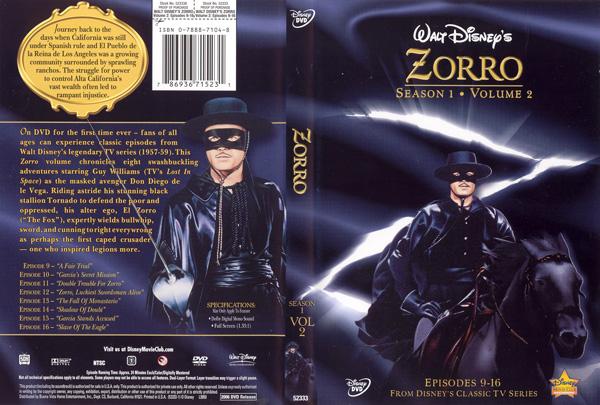 Zorro on DVD  The Disney Movie Club
