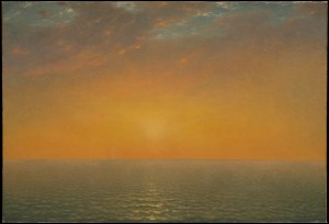 Sunset on the Sea by John Frederic Kensett, 1872. With thanks to www.metmuseum.org