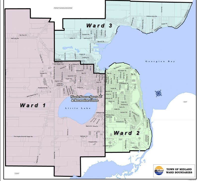 Midland Ontario Ward System