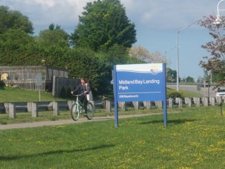 Petition calls for turning Midland Bay Landing into a waterfront park. Andrew Philips/MidlandToday