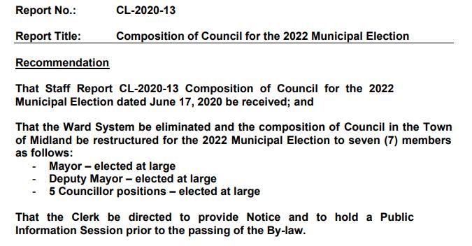 Council Size Reduction Report