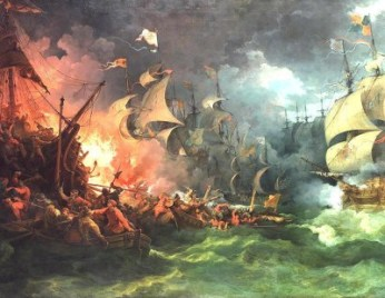 Spanish Armada battle