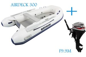 Quicksilver Airdeck 300 and Mariner F9.9M