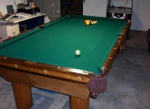 Basement Pool Room With 1912 Brunswick Victor Table