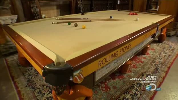 Auction Kings Rolling Stones Snooker Table Ball On The - Mr billiards pool table
