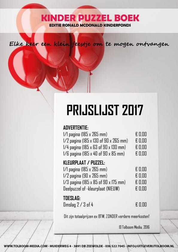 Grafisch Werk - Kinder Puzzel Boek prijslijst
