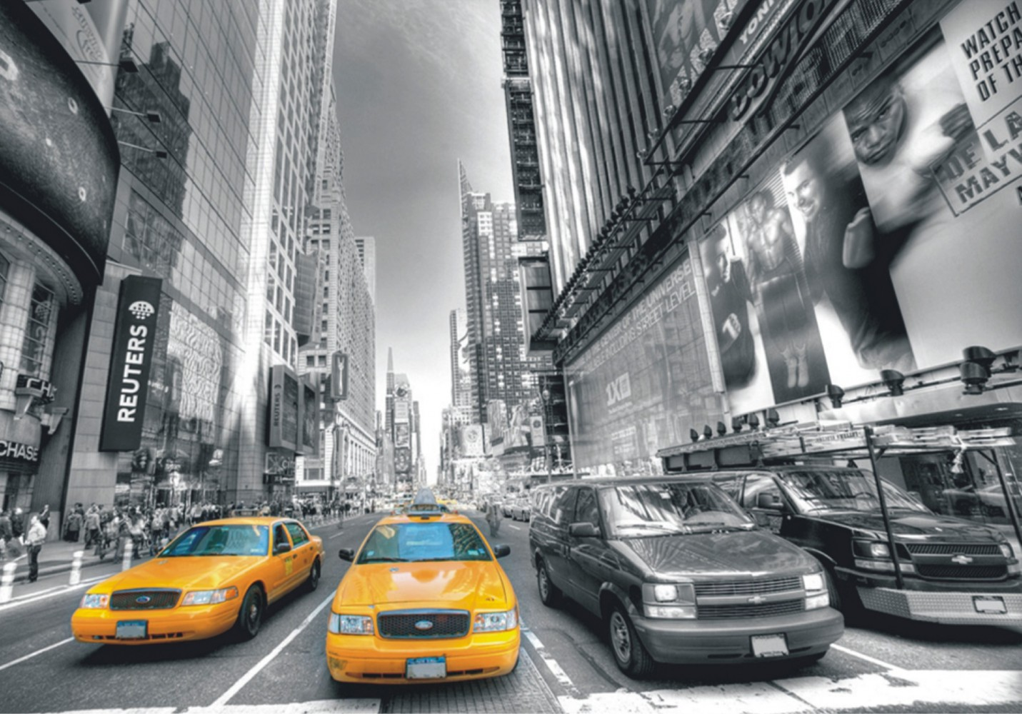 Fototapete Tapete New York Taxi Yellow Cap Manhattan NYC Foto 360 cm x 270 cm
