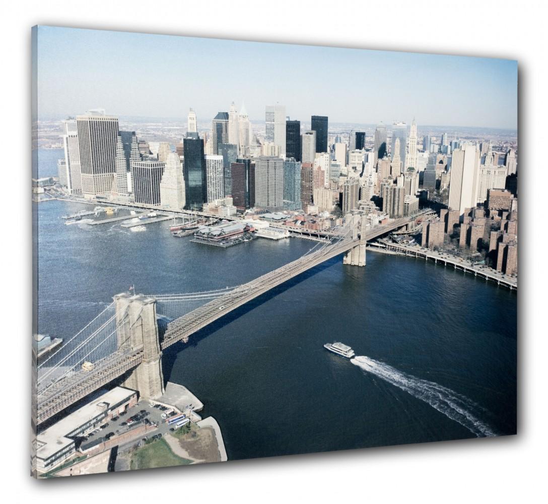 Wandbild Fotodruck Keilrahmen Bild New York Skyline 3D