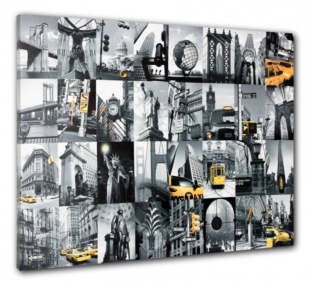 Wandbild Keilrahmen Bild New York City Cap Freiheitsstatue