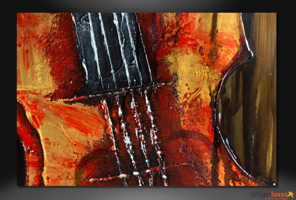 Original lgemlde Leinwand Violine Musik Geige Gemlde 152x51 cm Wandbild