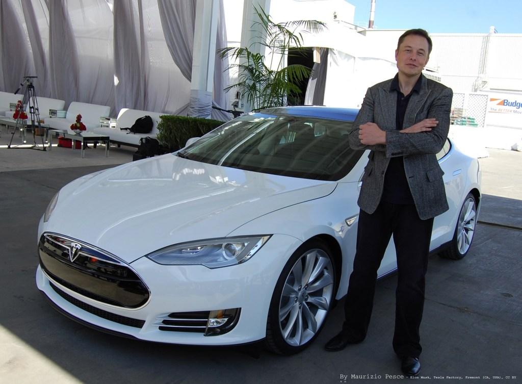 Elon Musk at Tesla Factory