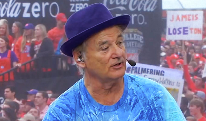 Bill Murray at Clemson Tigers game