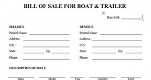 Trailer Bill Of Sale