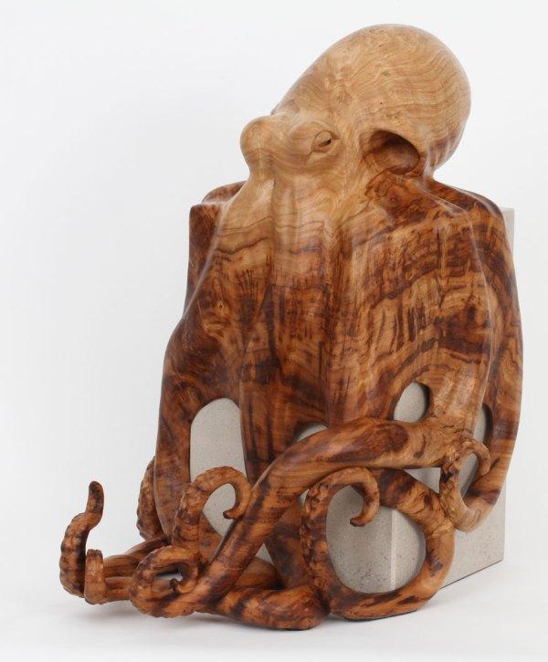 Octopus Sculpture Wildlife Artist Bill Prickett