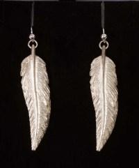 Silver Feather Earrings | Bill Prickett