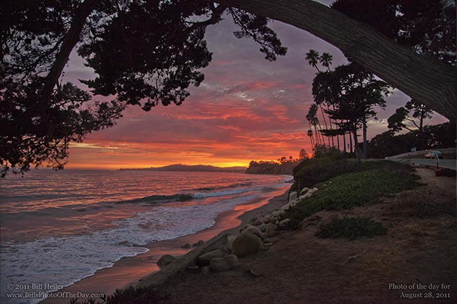 Friday Night in Santa Barbara  Santa Barbara Sunset from