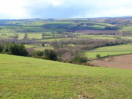 Valley of the River Browney from near Cornsay village.