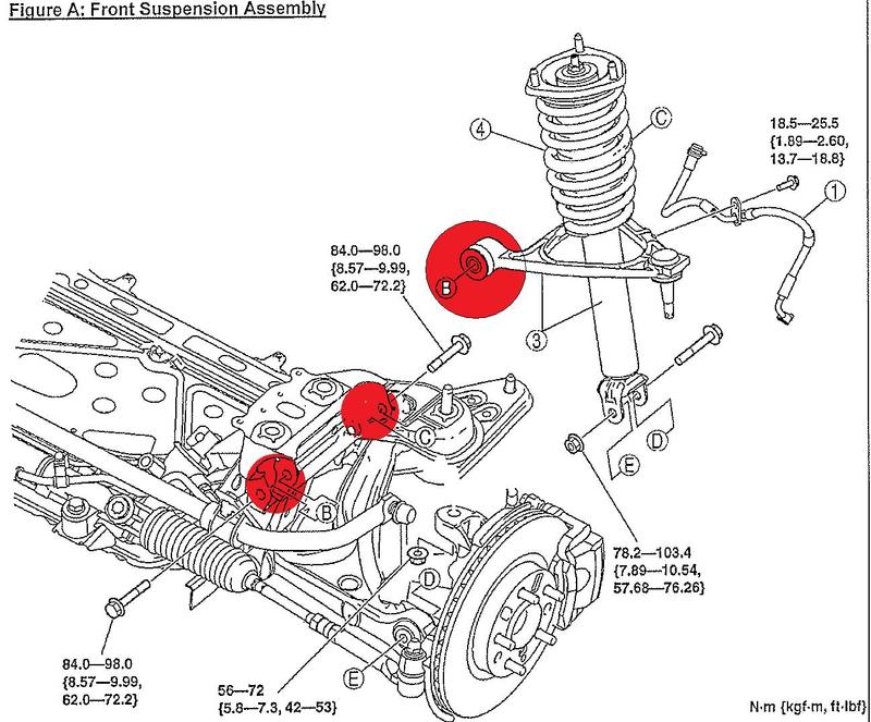 1990 Mazda Miata Rear Suspension Diagram. Mazda. Auto