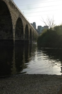 The Stone Arch Bridge From Underneath